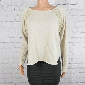 Sun & Shadow taupe knit sweater